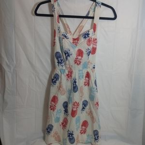 Charlotte Russe 4th of July pineapple mini dress